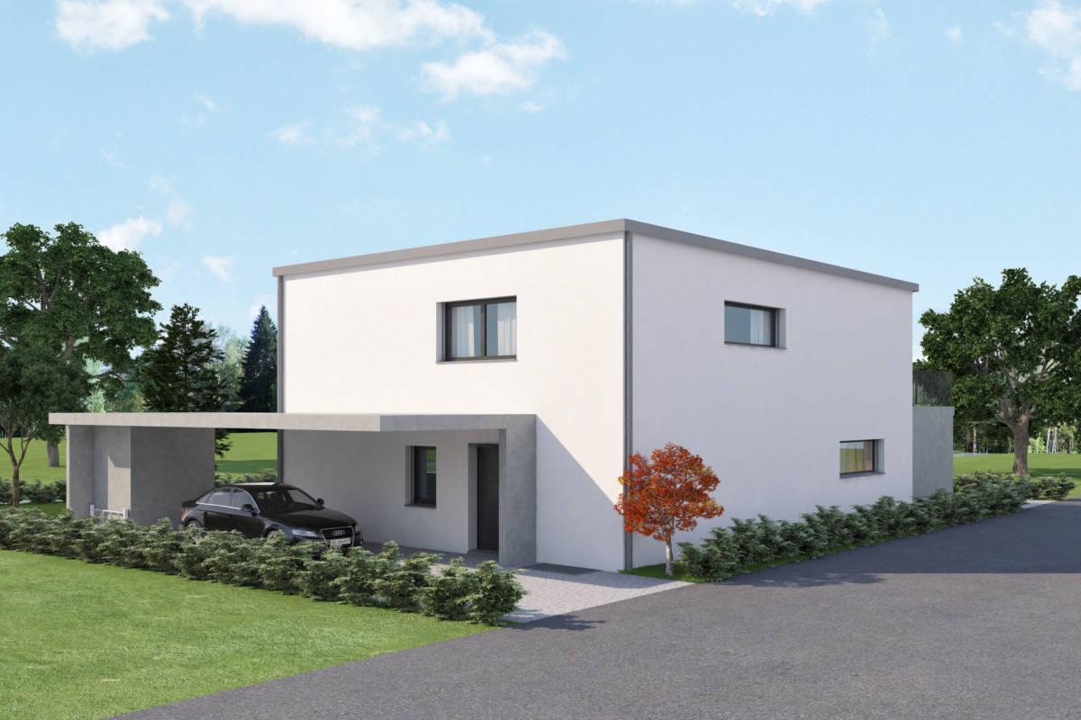 Neubau Einfamilienhaus Obergerlafingen Imowa Architektur GmbH, 3D Visualisierung AVOO Design Solothurn