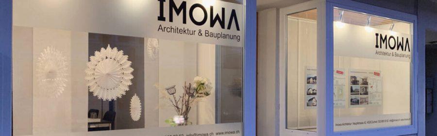 Schaufenster Imowa Architektur Zuchwil Winter